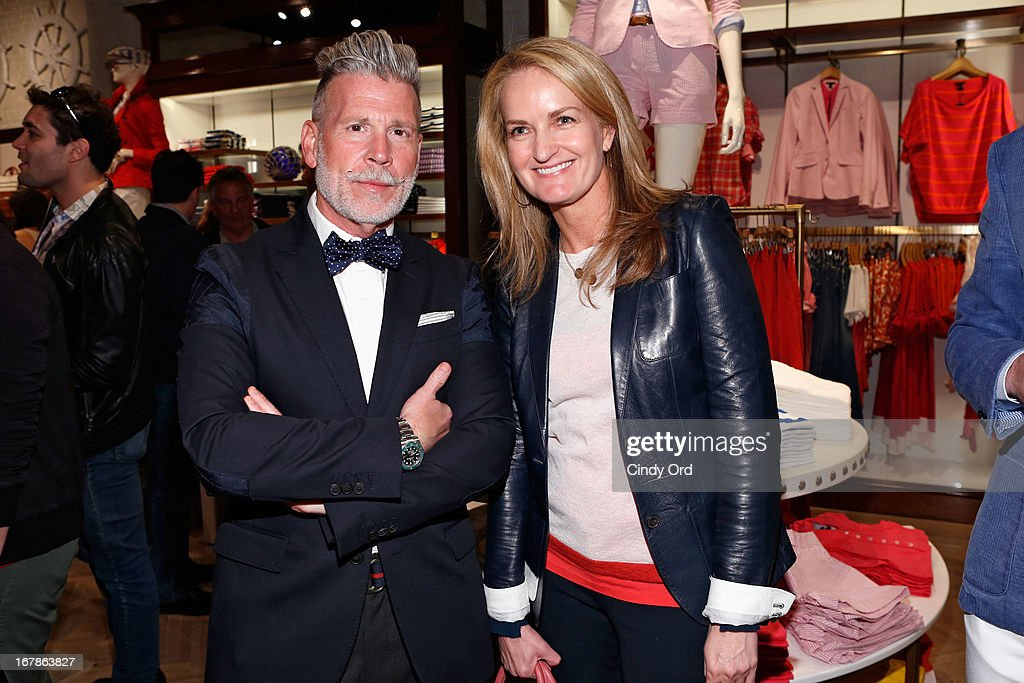 Nick Wooster and Heather Vandenberghe, SVP Marketing and Communication at Tommy Hilfiger attend Tommy Hilfiger celebrates redesigned Soho store with event for Fresh Air Fund on May 1, 2013 in New York City.
