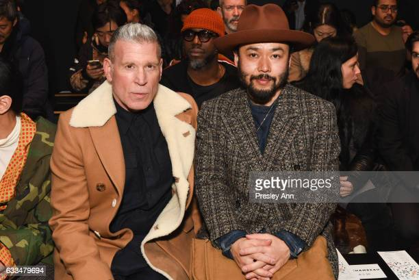 Nick Wooster and Poggy attend the Rochambeau show during NYFW Men's at Skylight Clarkson North on February 1 2017 in New York City