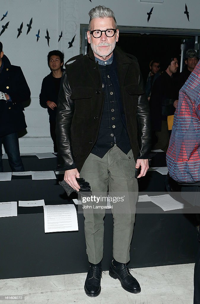 Nick Wooster attends Michael Bastian during Fall 2013 Mercedes-Benz Fashion Week on February 12, 2013 in New York City.