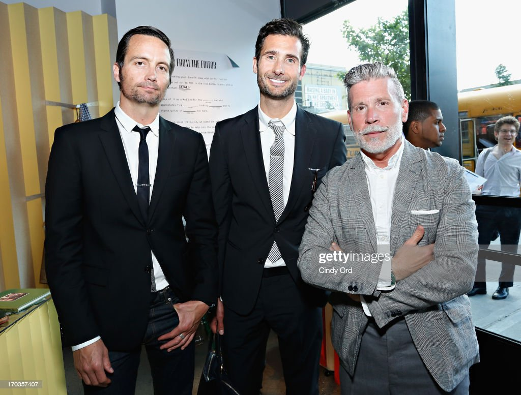 Nick Wooster (R) attends the Birchbox + Details Magazine 'His-Story' event at STORY on June 11, 2013 in New York City.