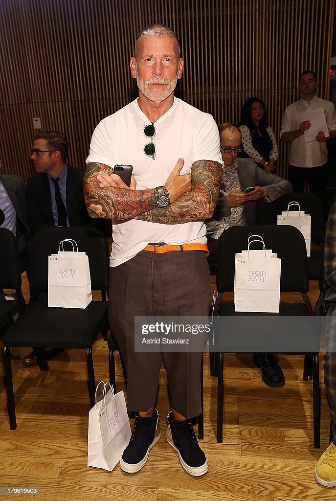 Nick Wooster attends the David Hart fashion show during Mercedes-Benz Fashion Week Spring 2014 at the DiMenna Center on September 5, 2013 in New York City.