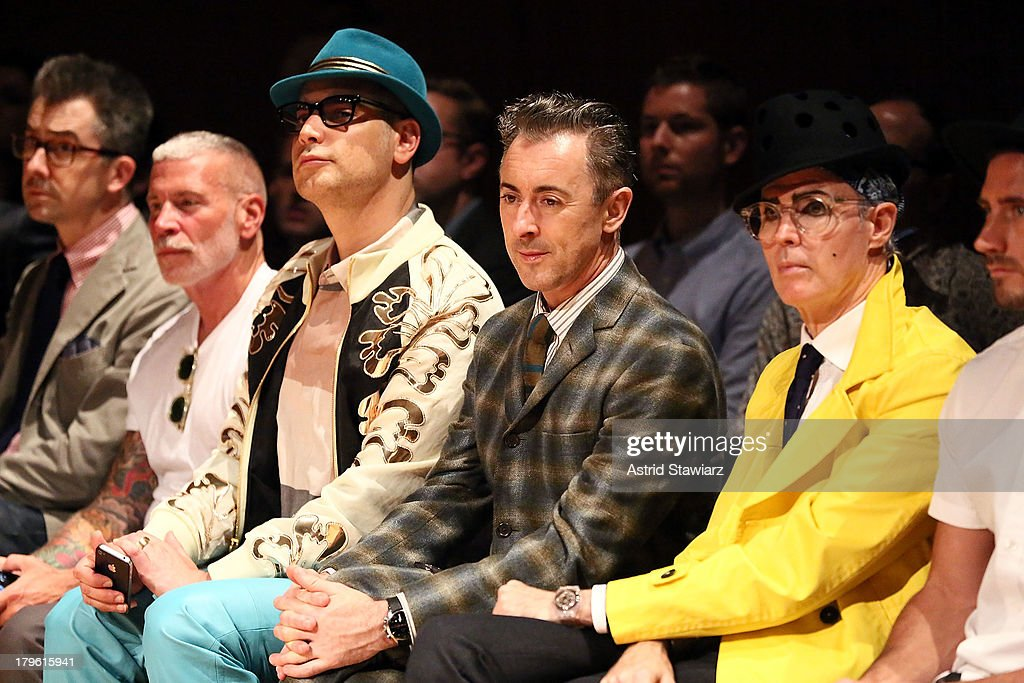 Nick Wooster, <a gi-track='captionPersonalityLinkClicked' href=/galleries/search?phrase=Cameron+Silver&family=editorial&specificpeople=546426 ng-click='$event.stopPropagation()'>Cameron Silver</a>, <a gi-track='captionPersonalityLinkClicked' href=/galleries/search?phrase=Alan+Cumming&family=editorial&specificpeople=202521 ng-click='$event.stopPropagation()'>Alan Cumming</a> and <a gi-track='captionPersonalityLinkClicked' href=/galleries/search?phrase=Patrick+McDonald+-+Modeexpert&family=editorial&specificpeople=15167415 ng-click='$event.stopPropagation()'>Patrick McDonald</a> attend the David Hart fashion show during Mercedes-Benz Fashion Week Spring 2014 at the DiMenna Center on September 5, 2013 in New York City.