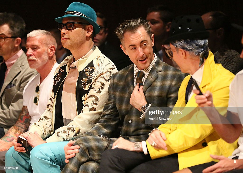 Nick Wooster, Cameron Silver, Alan Cumming and Patrick McDonald attend the David Hart fashion show during Mercedes-Benz Fashion Week Spring 2014 at the DiMenna Center on September 5, 2013 in New York City.