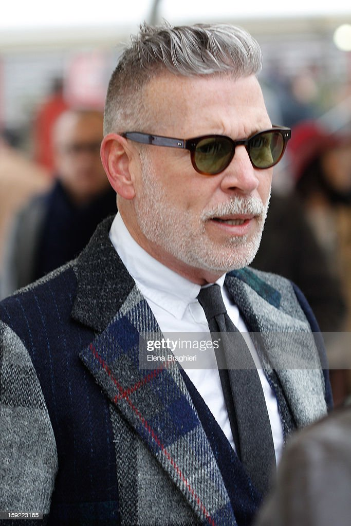Nick Wooster is seen at Pitti Immagine Uomo 83 on January 9, 2013 in Florence, Italy.