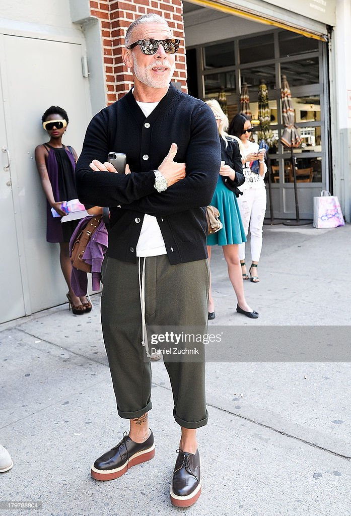Nick Wooster is seen outside the Duckie Brown show on September 6, 2013 in New York City.