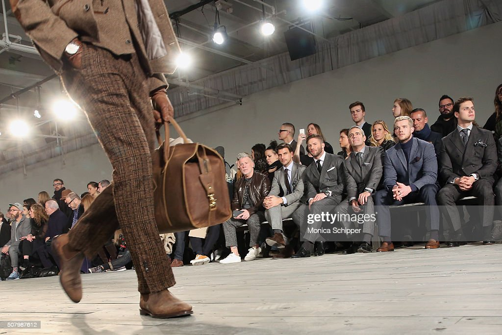 Nick Wooster, <a gi-track='captionPersonalityLinkClicked' href=/galleries/search?phrase=Johannes+Huebl&family=editorial&specificpeople=5696811 ng-click='$event.stopPropagation()'>Johannes Huebl</a>, <a gi-track='captionPersonalityLinkClicked' href=/galleries/search?phrase=Julian+Edelman&family=editorial&specificpeople=4489543 ng-click='$event.stopPropagation()'>Julian Edelman</a>, <a gi-track='captionPersonalityLinkClicked' href=/galleries/search?phrase=Andy+Cohen+-+Television+Personality&family=editorial&specificpeople=7879180 ng-click='$event.stopPropagation()'>Andy Cohen</a>, <a gi-track='captionPersonalityLinkClicked' href=/galleries/search?phrase=Russell+Tovey&family=editorial&specificpeople=741440 ng-click='$event.stopPropagation()'>Russell Tovey</a> and Jake Robinson attend the Joseph Abboud fashion show during New York Fashion Week Men's Fall/Winter 2016 at Skylight at Clarkson Sq on February 2, 2016 in New York City.