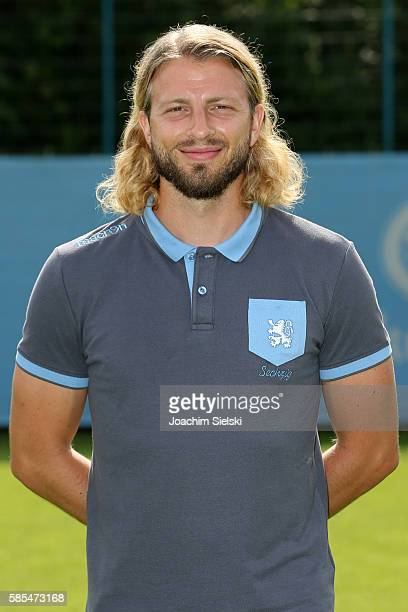 Nick Wurian poses during the official team presentation of TSV 1860 Muenchen at Trainingsgelaende on July 22 2016 in Munich Germany