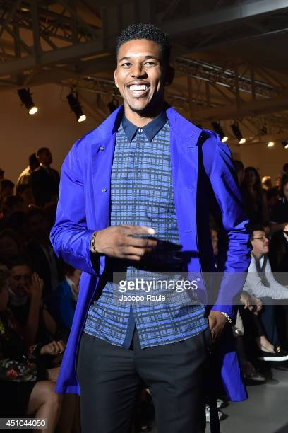 Nick Young attends Calvin Klein Collection during Milan Fashion Week Menswear Spring/Summer 2015 on June 22 2014 in Milan Italy