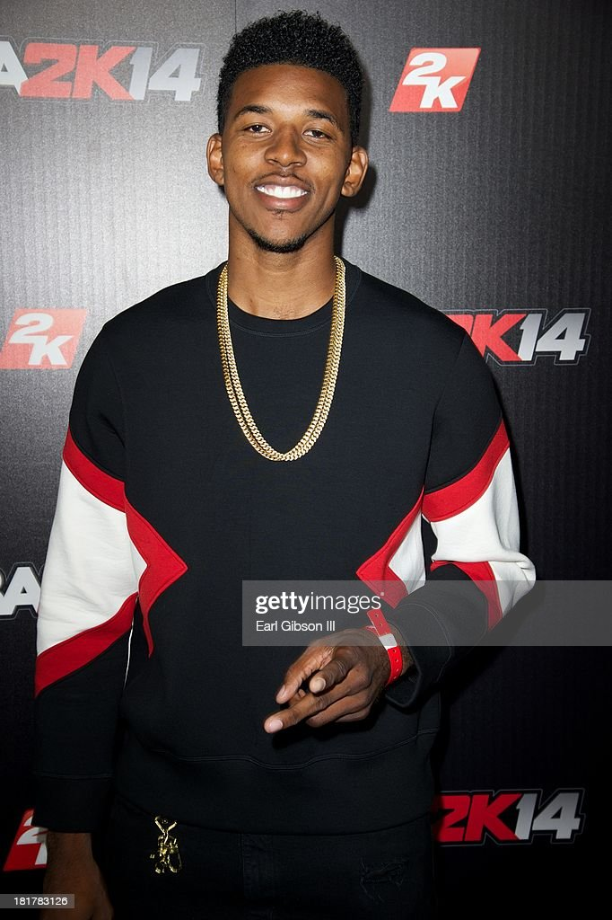 <a gi-track='captionPersonalityLinkClicked' href=/galleries/search?phrase=Nick+Young+-+Basketball+Player&family=editorial&specificpeople=4378101 ng-click='$event.stopPropagation()'>Nick Young</a> attends the NBA2K14 premiere at Greystone Manor Supperclub on September 24, 2013 in West Hollywood, California.
