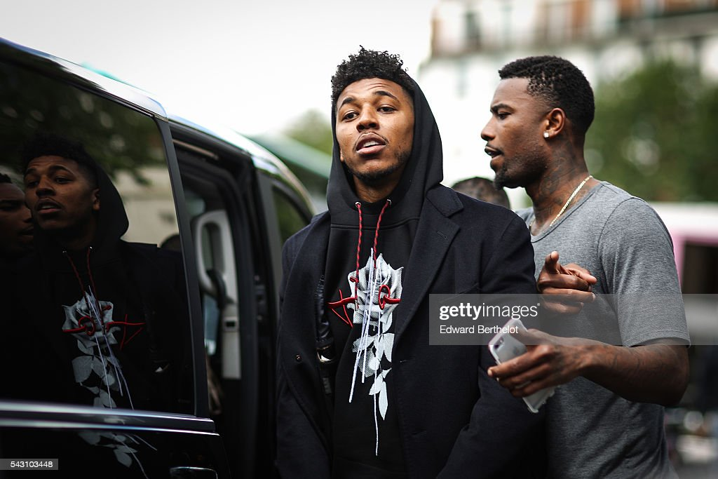 Nick Young is seen, after the Dior show, during Paris Fashion Week Menswear Spring/summer 2017, on June 25, 2016 in Paris, France.