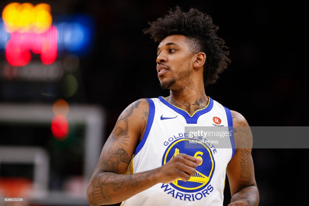 Nick Young #6 of the Golden State Warriors is seen during the game against the Cleveland Cavaliers at Quicken Loans Arena on January 15, 2018 in Cleveland, Ohio.