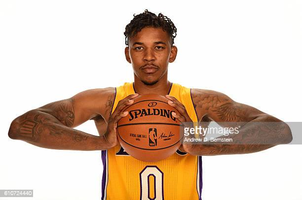 Nick Young of the Los Angeles Lakers poses for a portrait during the 20162017 Los Angeles Lakers Media Day at Toyota Sports Center on September 26...