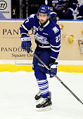 Nick Zotti of the Mississauga Steelheads skates up ice against the Belleville Bulls during the OHL game on January 16 2015 at the Hershey Centre in...