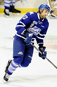 Nick Zotti of the Mississauga Steelheads takes warmup prior to a game against the Belleville Bulls during the OHL game on January 16 2015 at the...