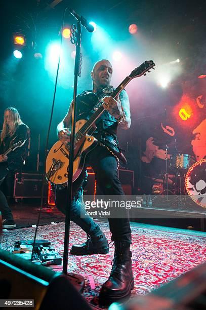 Nicke Borg of Backyard Babies performs on stage at Bikini on November 14 2015 in Barcelona Spain