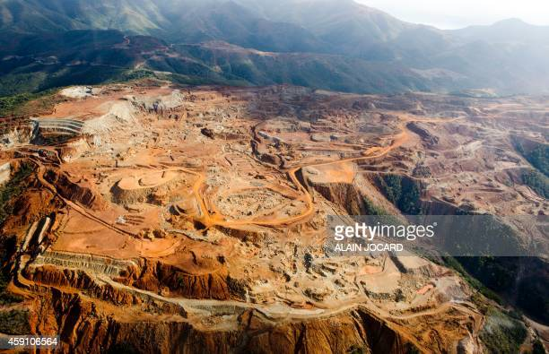 A nickel mine is seen on November 17 2014 near Voh on the French island of New Caledonia AFP PHOTO / ALAIN JOCARD