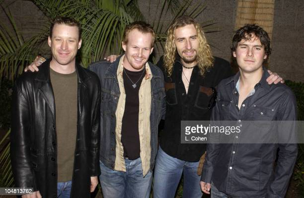NickelBack during 2002 Billboard Music Awards Arrivals at MGM Grand Arena in Las Vegas Nevada United States
