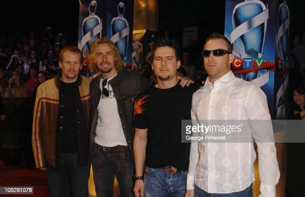 Nickelback during 2004 Juno Awards Arrivals at Rexall Place in Edmonton Alberta Canada