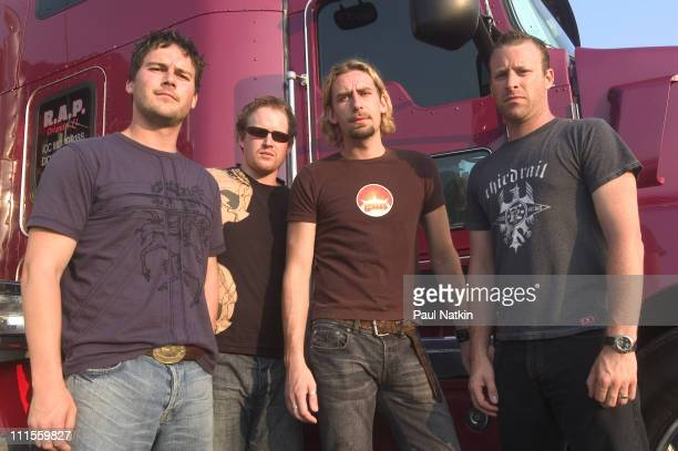 Nickelback during Nickelback Photocall July 10 2004 at Tweeter Center in Chicago Illinois United States