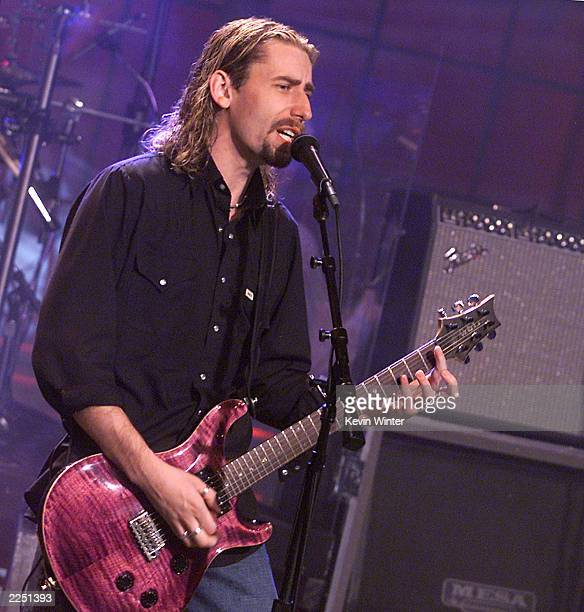 Nickelback singer Chad Kroeger on 'The Tonight Show with Jay Leno' at the NBC Studios in Los Angeles Ca October 8 2001 Photo by Kevin Winter/Getty...