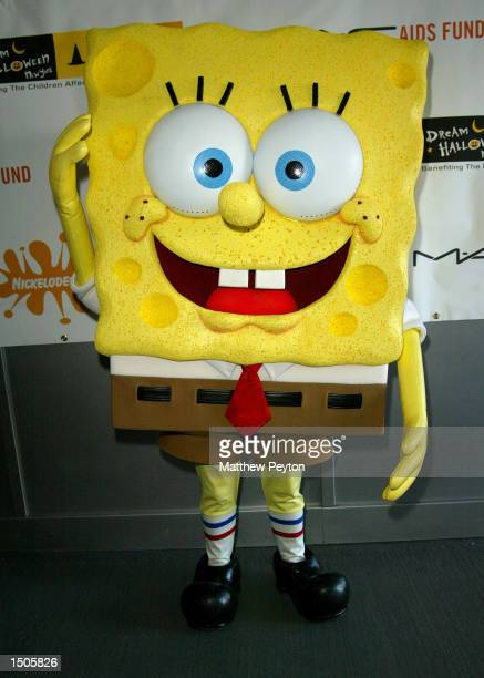 Nickelodeon character SpongeBob SquarePants attends New York's Greatest Dream Halloween Event at Chelsea Piers October 20 2002 in New York City The...