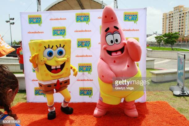 Nickelodeon Characters participate in the Worldwide Day of Play at Bahia Urbana Bay Side Park on August 12 2017 in San Juan Puerto Rico