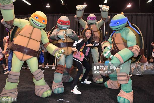Nickelodeon Star Breanna Yde attends the Nickelodeon Booth at VidCon 2017 at the Anaheim Convention Center on June 23 2017 in Anaheim California