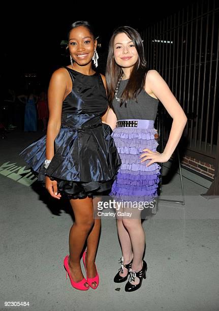 LOS ANGELES CA AUGUST 22 **EXCLUSIVE** Nickelodeon's 'iCarly' star Miranda Cosgrove attends 'True Jackson VP' star Keke Palmer's sweet 16 birthday...