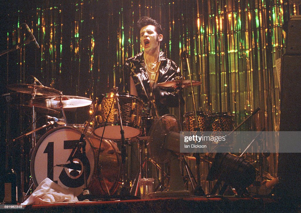 Nickey Alexander of The Cramps performing on stage at The Forum Kentish Town London 29 October 1991