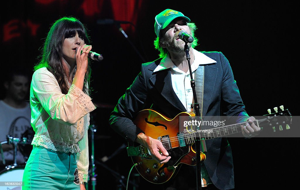 Nicki Bluhm and Tim Bluhm (L-R) perform on stage as Jameson Best Fest launches Petty Fest at The Fillmore on February 27, 2013 in San Francisco, California.