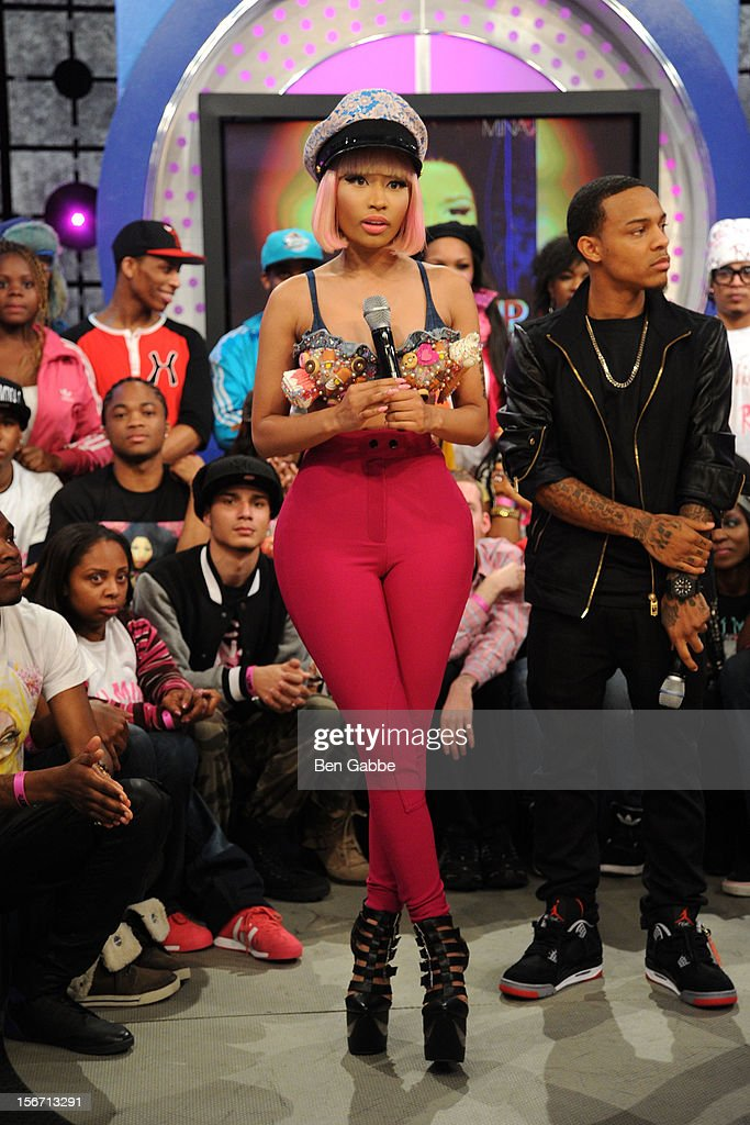 Nicki Minaj and Bow Wow attend BET's 106 & Park Studio on November 19, 2012 in New York City.