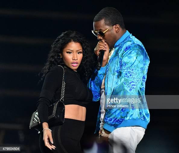 Nicki Minaj and Meek Mill attend Hot 1079 Birthday Bash Block Show at Philips Arena on June 20 2015 in Atlanta Georgia