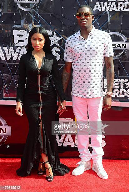 Nicki Minaj and Meek Mill attend the 2015 BET Awards on June 28 2015 in Los Angeles California