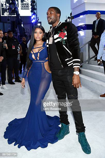 Nicki Minaj and Meek Mill attend the 2016 MTV Video Music Awards at Madison Square Garden on August 28 2016 in New York City