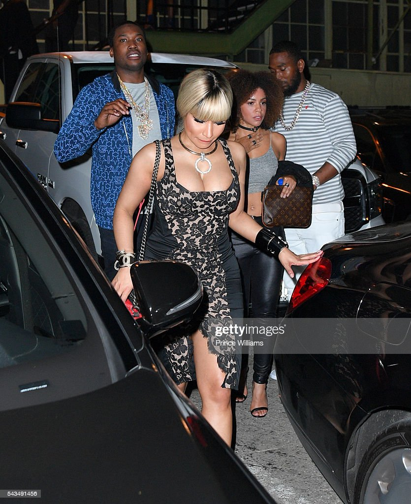 Nicki Minaj and <a gi-track='captionPersonalityLinkClicked' href=/galleries/search?phrase=Meek+Mill&family=editorial&specificpeople=7187702 ng-click='$event.stopPropagation()'>Meek Mill</a> on June 28, 2016 in Los Angeles, California.