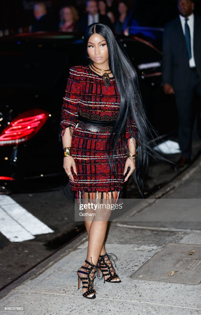 Nicki Minaj arrives at Hand in Hand benefit for hurricane victims at ABC studios on September 12, 2017 in New York City.