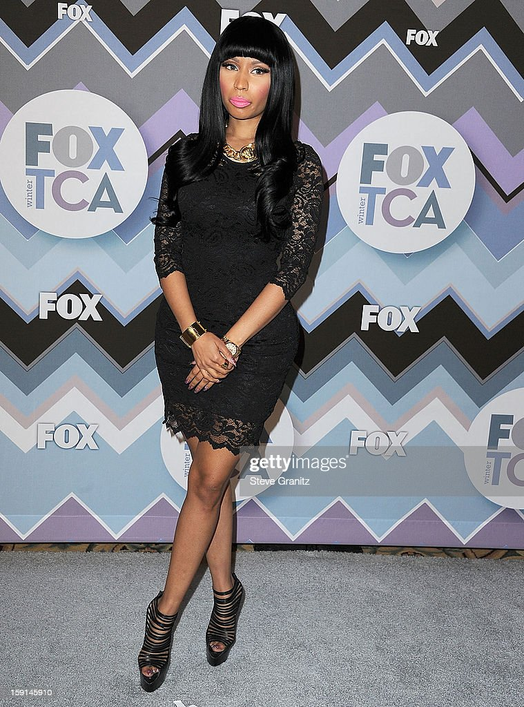 <a gi-track='captionPersonalityLinkClicked' href=/galleries/search?phrase=Nicki+Minaj+-+Performer&family=editorial&specificpeople=6362705 ng-click='$event.stopPropagation()'>Nicki Minaj</a> arrives at the 2013 TCA Winter Press Tour - FOX All-Star Party at The Langham Huntington Hotel and Spa on January 8, 2013 in Pasadena, California.