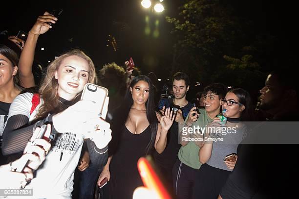 Nicki Minaj arrives at the Alexander Wang S/S 2017 party at Pier 94 in New York NY on September 10 2016