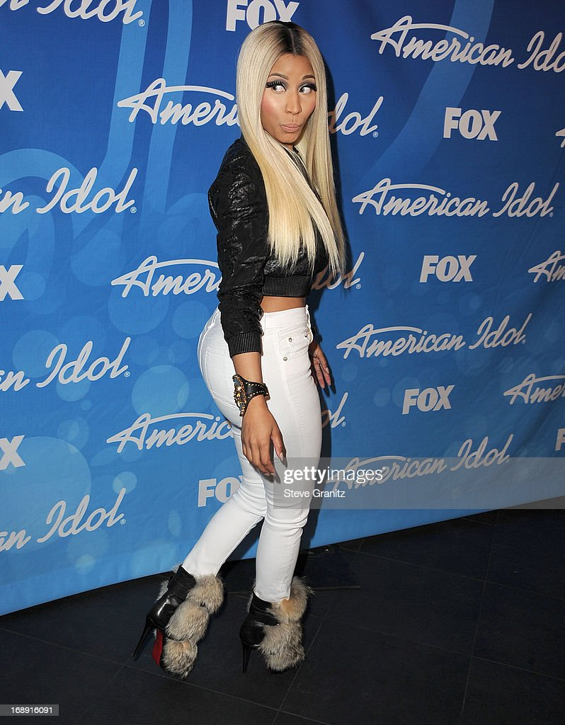 Nicki Minaj arrives at the FOX's 'American Idol' Grand Finale at Nokia Theatre L.A. Live on May 16, 2013 in Los Angeles, California.
