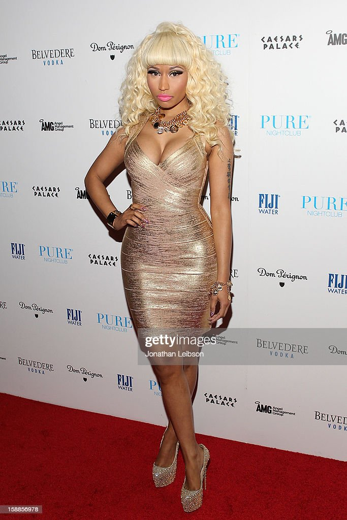 <a gi-track='captionPersonalityLinkClicked' href=/galleries/search?phrase=Nicki+Minaj+-+K%C3%BCnstlerin&family=editorial&specificpeople=6362705 ng-click='$event.stopPropagation()'>Nicki Minaj</a> arrives to New Year's Eve At PURE Nightclub on December 31, 2012 in Las Vegas, Nevada.