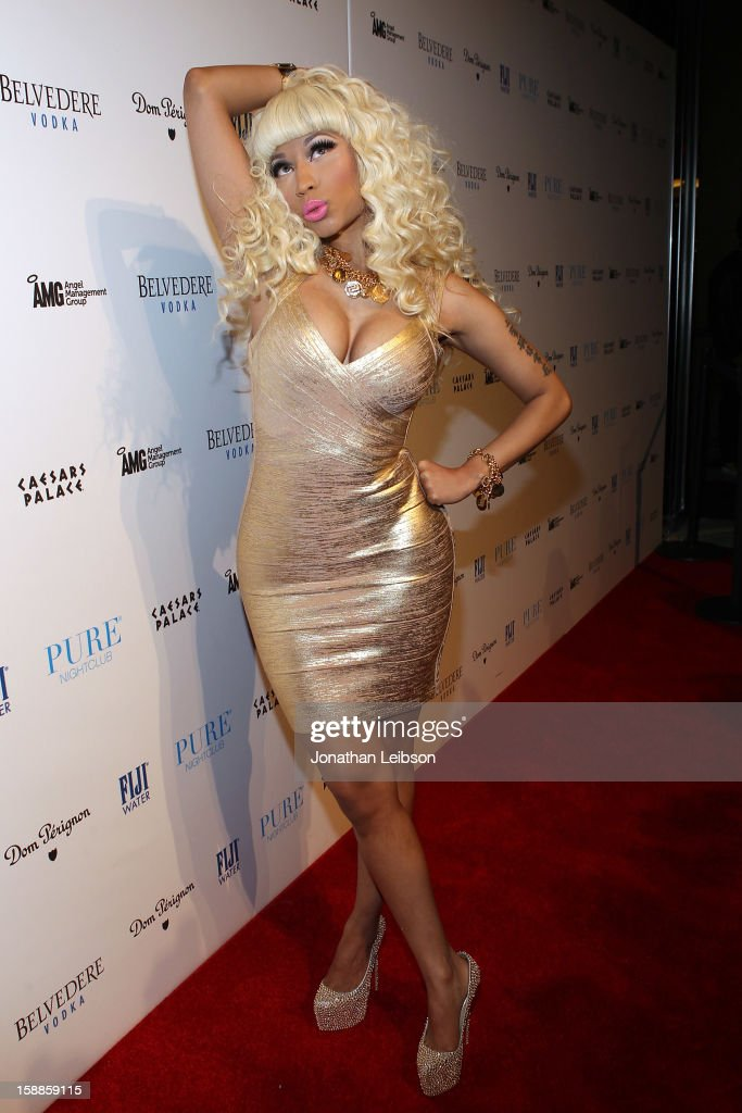 <a gi-track='captionPersonalityLinkClicked' href=/galleries/search?phrase=Nicki+Minaj+-+Artista&family=editorial&specificpeople=6362705 ng-click='$event.stopPropagation()'>Nicki Minaj</a> arrives to New Year's Eve At PURE Nightclub on December 31, 2012 in Las Vegas, Nevada.