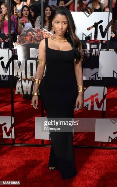 Nicki Minaj arriving at The MTV Movie Awards 2014 at the Nokia Theatre LA Live Los Angeles