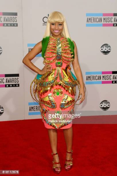 Nicki Minaj attends 2010 American Music Awards Arrivals at Nokia Theatre on November 21 2010 in Los Angeles California
