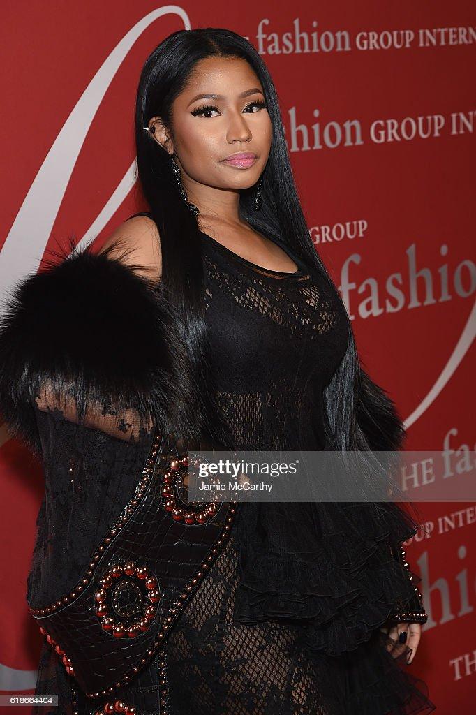 Nicki Minaj attends 2016 Fashion Group International Night Of Stars Gala at Cipriani Wall Street on October 27, 2016 in New York City.