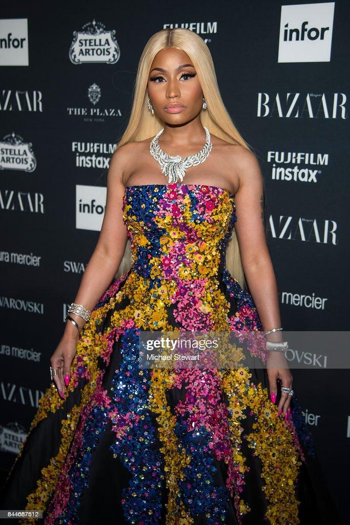 Nicki Minaj attends 2017 Harper's Bazaar Icons at The Plaza Hotel on September 8, 2017 in New York City.