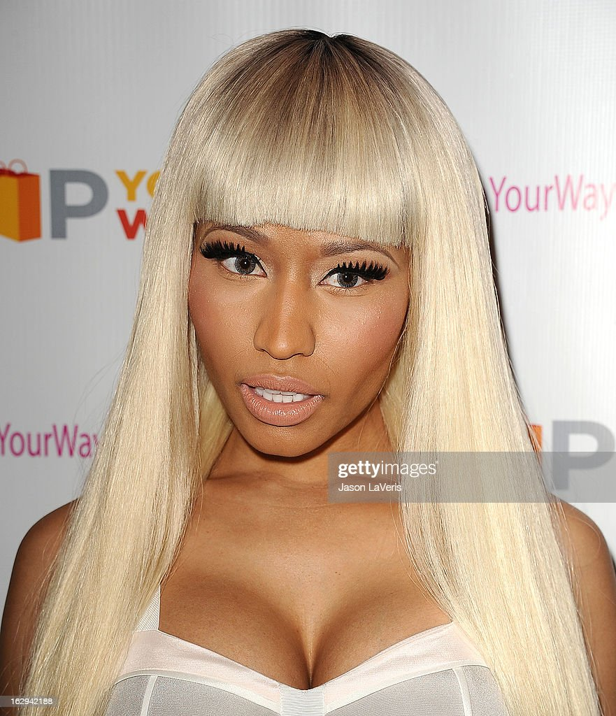 Nicki Minaj attends a sneak peak of her Kmart collection at Fig & Olive Melrose Place on March 1, 2013 in West Hollywood, California.