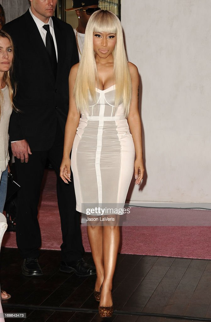 <a gi-track='captionPersonalityLinkClicked' href=/galleries/search?phrase=Nicki+Minaj+-+Artist&family=editorial&specificpeople=6362705 ng-click='$event.stopPropagation()'>Nicki Minaj</a> attends a sneak peak of her Kmart collection at Fig & Olive Melrose Place on March 1, 2013 in West Hollywood, California.