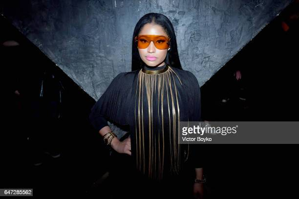 Nicki Minaj attends Balmain aftershow party as part of Paris Fashion Week Womenswear Fall/Winter 2017/2018 at Manko Paris on March 2 2017 in Paris...