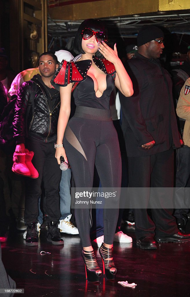 <a gi-track='captionPersonalityLinkClicked' href=/galleries/search?phrase=Nicki+Minaj+-+Artista&family=editorial&specificpeople=6362705 ng-click='$event.stopPropagation()'>Nicki Minaj</a> attends her Christmas Extravaganza at Webster Hall on December 25, 2012 in New York City.