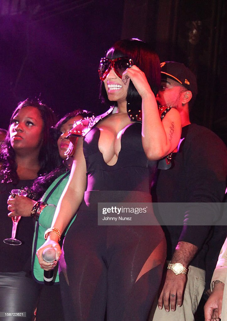 <a gi-track='captionPersonalityLinkClicked' href=/galleries/search?phrase=Nicki+Minaj+-+Performer&family=editorial&specificpeople=6362705 ng-click='$event.stopPropagation()'>Nicki Minaj</a> attends her Christmas Extravaganza at Webster Hall on December 25, 2012 in New York City.